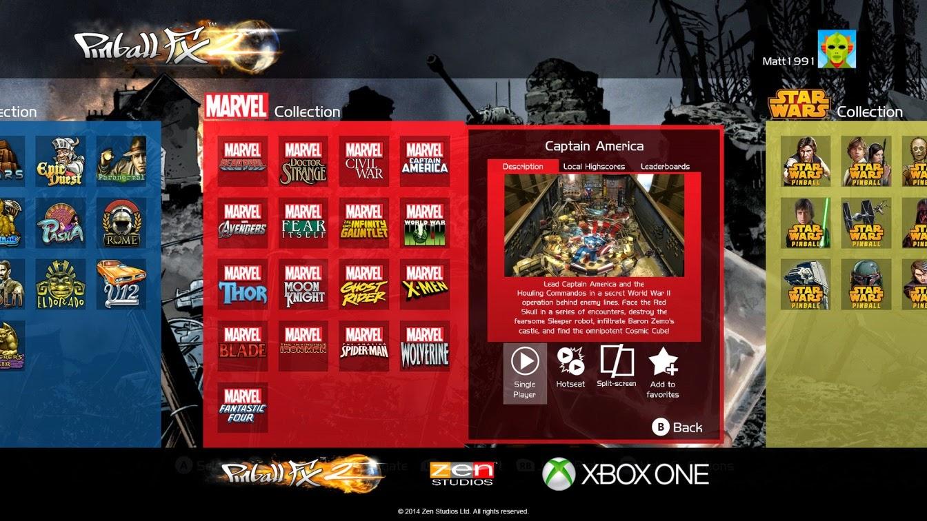 Компания Zen Studios не испытала проблем при разработке версии Pinball FX 2 для Xbox One