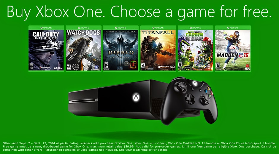 Microsoft дарит бесплатно любую игру покупателям Xbox One