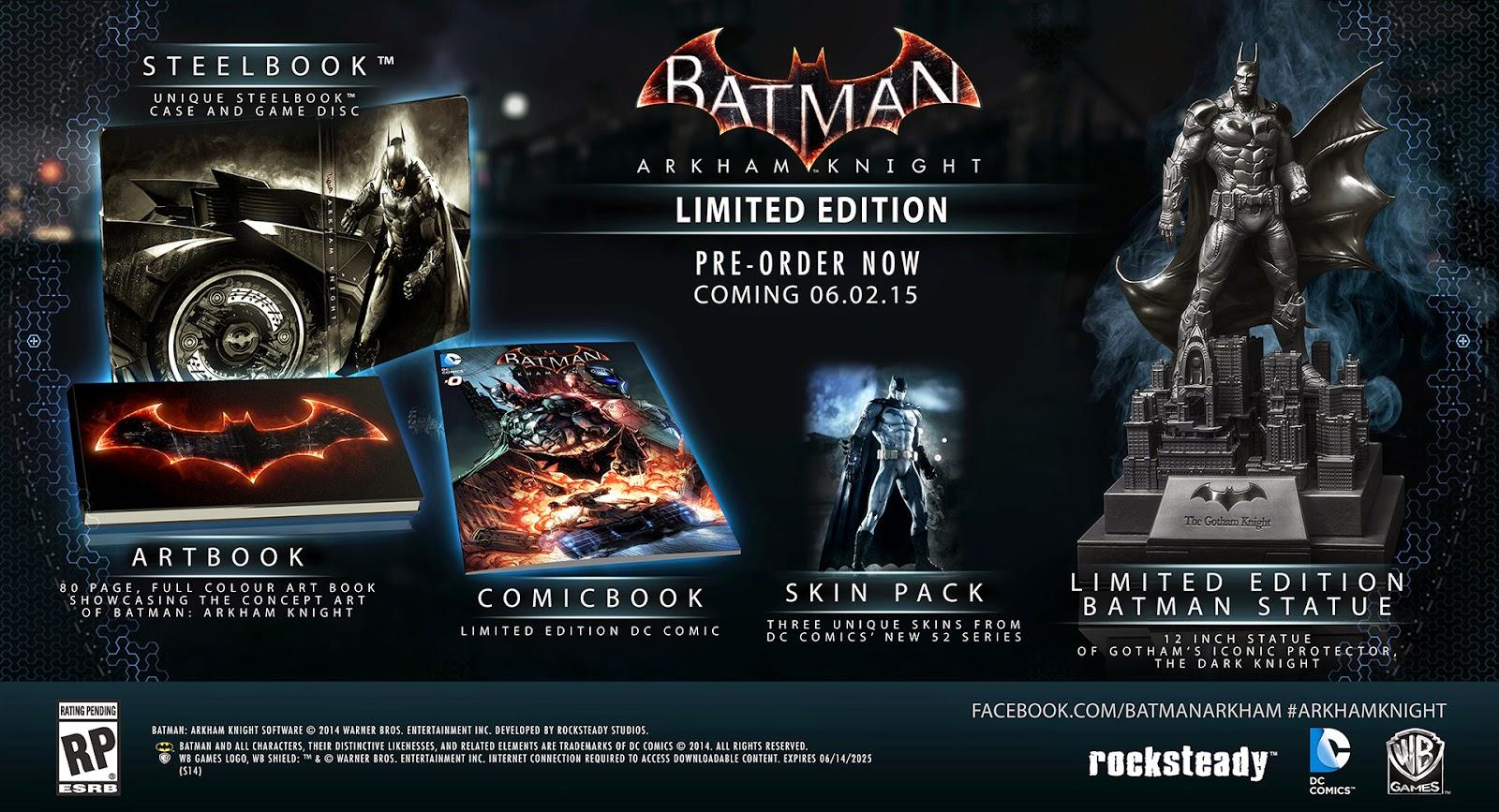 Релиз игры Batman: Arkham Knight состоится 2 июня 2015 года