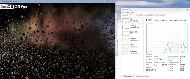 DirectX 12 показал отличные результаты в синтетических тестах и игре Fable Legends