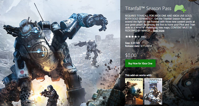 Бесплатный Season Pass для Titanfall раздает студия Respawn Entertainment в честь годовщины игры