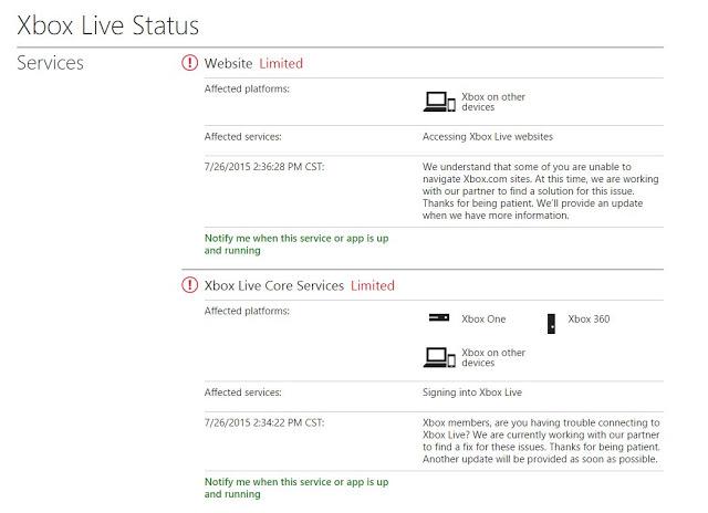 Сервера Xbox Live пережили очередное серьезное падение