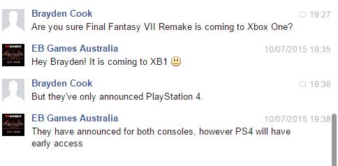 Культовая для консолей Playstation игра Final Fantasy VII выйдет на приставке Xbox One