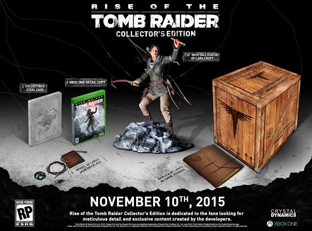 Подробности коллекционного издания игры Rise of the Tomb Raider для Xbox One