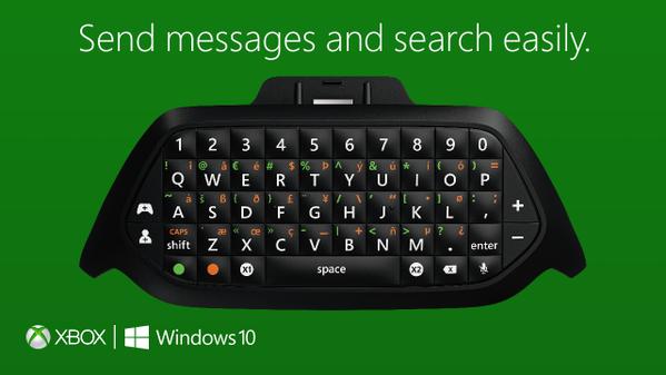 [Gamescom 2015] Анонсирован ChatPad для геймпада от приставки Xbox One