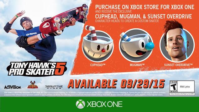 За предварительный заказ Tony Hawk Pro Skater 5 для Xbox One игроки получат бонусный контент