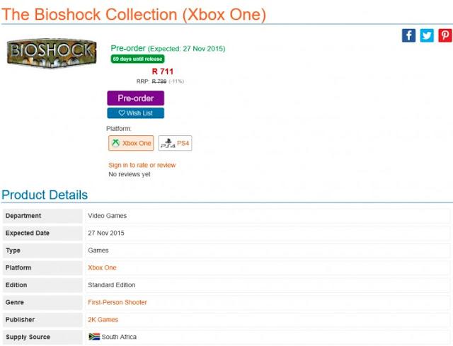 Все игры франшизы Bioshock могут выйти на приставках Xbox One и Playstation 4 в едином сборнике