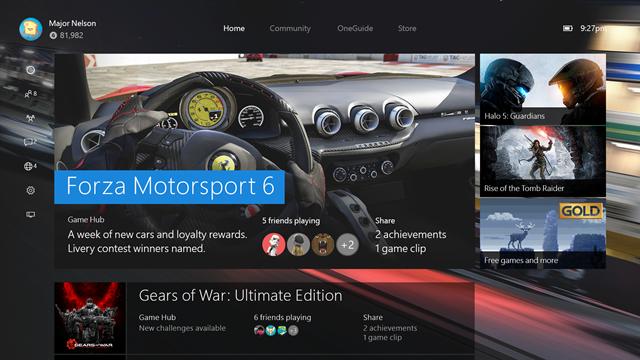 Компания Microsoft показала работу Windows 10 на Xbox One в рамках очередного видео и рассказала об основных нововведениях