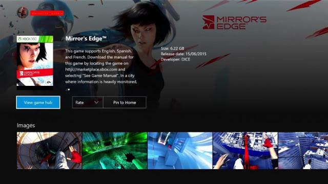 Игры Mirror´s Edge и Streets of Rage будут доступны на Xbox One по обратной совместимости с Xbox 360