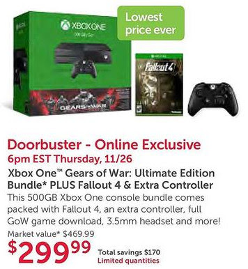 """Купить Xbox One дешево предложит компания Microsoft в """"Черную Пятницу"""""""