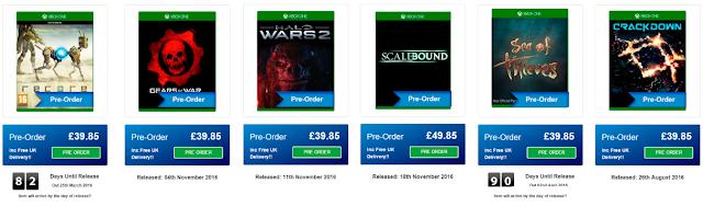 В сети появились даты релизов всех анонсированных эксклюзивов Xbox One 2016 года