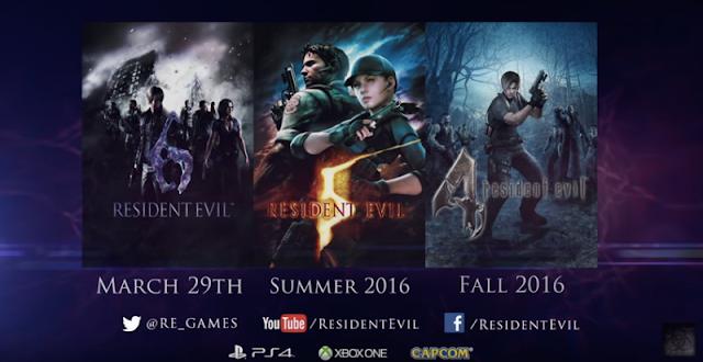Resident Evil 4, Resident Evil 5 и Resident Evil 6 выйдут на Xbox One и Playstation 4