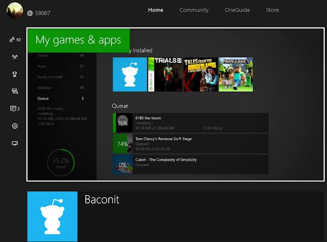 Приложение Baconit стало доступно бета-тестерам прошивок Xbox One
