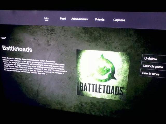 В сети появился скриншот, указывающий на разработку Battletoads для Xbox One