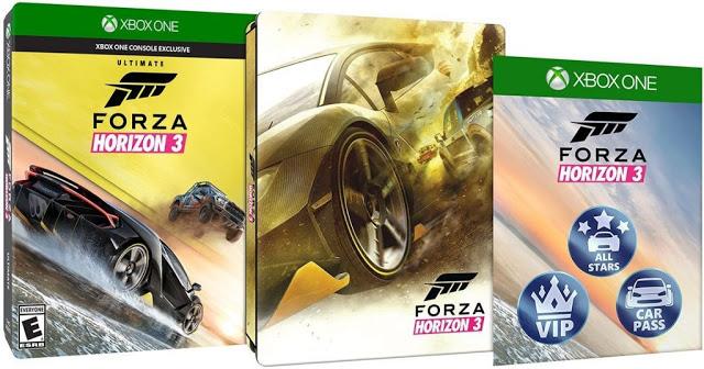 Ultimate-версия Forza Horizon 3 будет поставляться в металлическом стилбуке