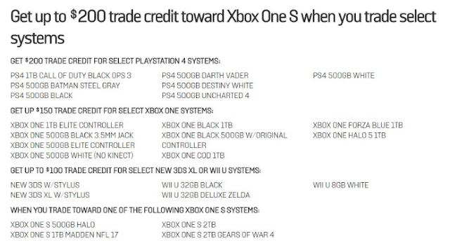Microsoft предлагает выгодно обменять Xbox One и Playstation 4 на Xbox One S