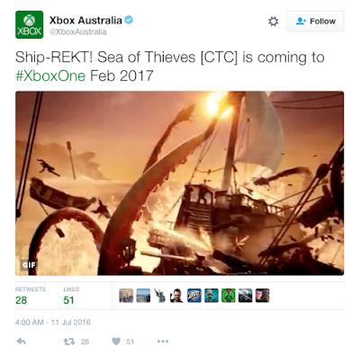 Австралийское подразделение Xbox слило дату релиза игры Sea of Thieves