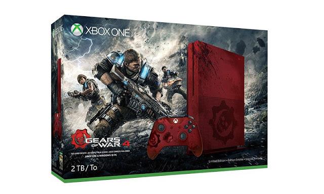 В сети появились изображения консоли Xbox One S в стиле Gears of War 4