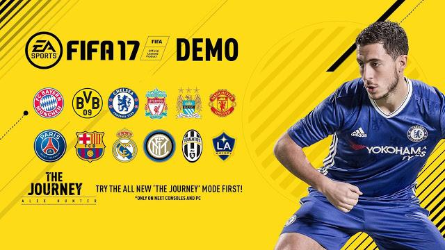 Демо-версия FIFA 17 стала доступна бесплатно на Xbox One