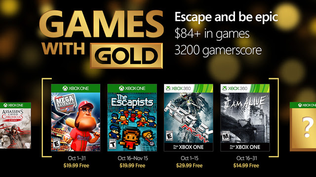 Games With Gold октябрь: Super Mega Baseball: Extra Innings и The Escapists