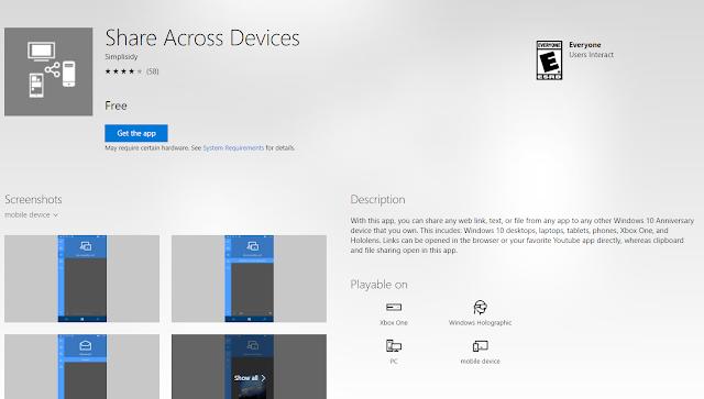 Приложение Share Across Devices стало доступно на приставке Xbox One