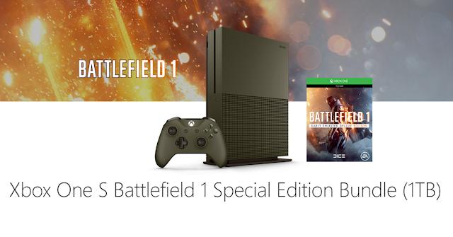 Microsoft представила 3 бандла Xbox One S с игрой Battlefield 1