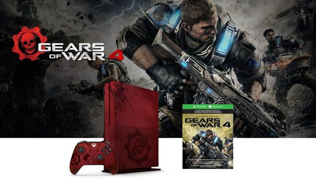 Xbox One S в стиле Gears of War 4 поступит в продажу 6 октября