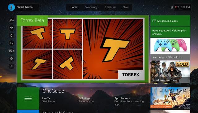 Первый взгляд на работу торрент-трекера Torrex на Xbox One