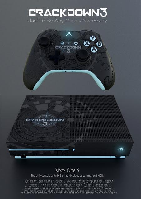 Концепт-дизайн Xbox One S и геймпада в стиле Crackdown 3