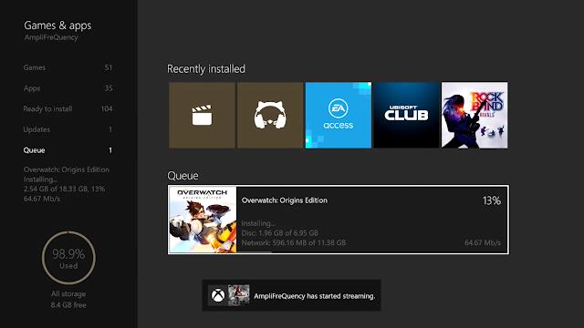 В новой версии прошивки Xbox One процесс установки игр стал более информативным