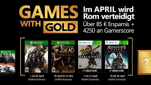 Объявлен список бесплатных игр по программе Games With Gold в апреле