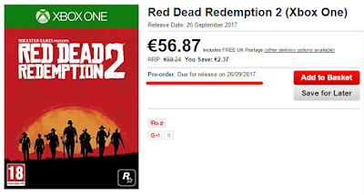Слух: британский магазин «слил» дату релиза Red Dead Redemption 2