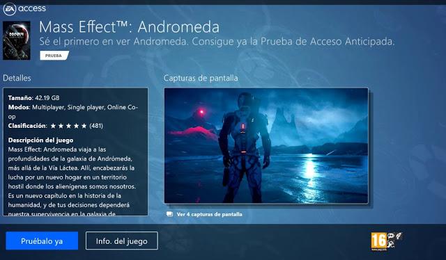 Пробная версия Mass Effect Andromeda стала доступна в EA Access