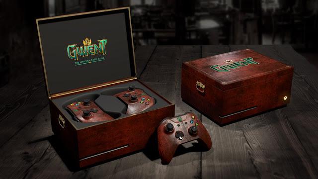 Microsoft разыгрывает коллекционный кейс с приставкой Xbox One в стиле игры Gwent