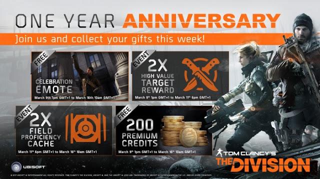 The Division празднует «День рождения»: бесплатные DLC и бонусы игрокам