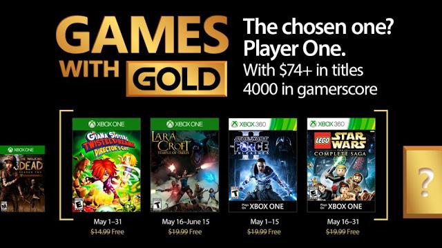 Объявлен майский список бесплатных игр по программе Games With Gold
