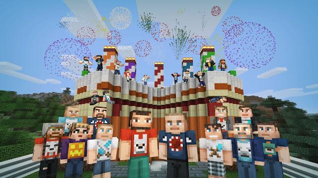 В честь 5-летия консольной версии игры Minecraft разработчики выпустили бесплатный набор скинов