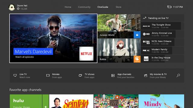 Microsoft в новой прошивке Xbox One планирует убрать раздел OneGuide