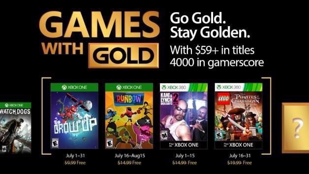 Объявлен список бесплатных игр по программе Games With Gold в июле
