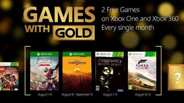 Слухи: Какие игры будут доступны бесплатно по программе Games With Gold в августе