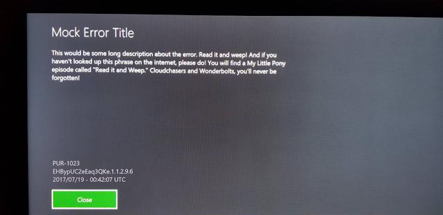 Пользователь Xbox One столкнулся с системной ошибкой с отсылкой к сериалу «Мой маленький пони»