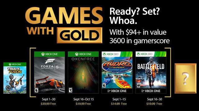 Объявлен список бесплатных игр по программе Games With Gold в сентябре