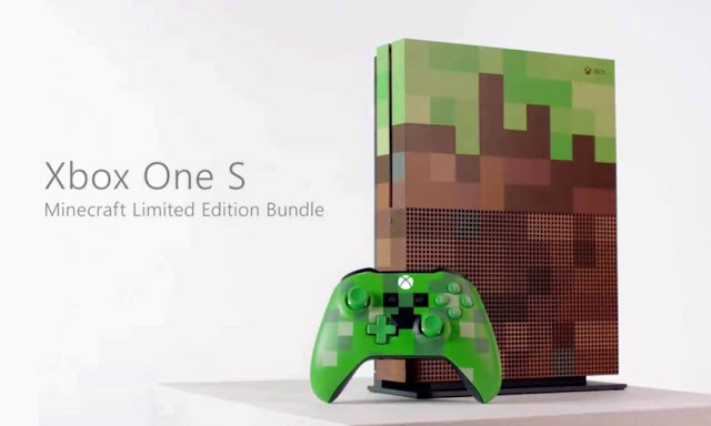 Официально представлена игровая приставка Xbox One S Minecraft Limited Edition