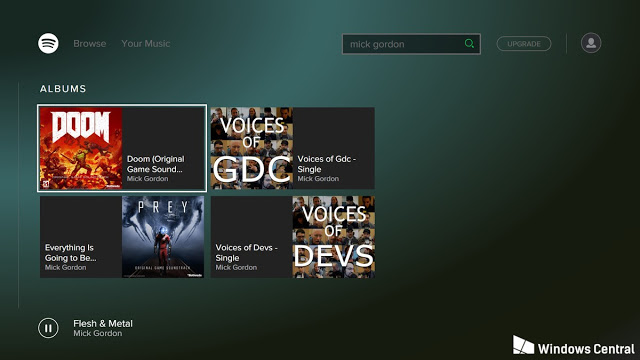 Интерфейс Spotify и подробности о работе приложения