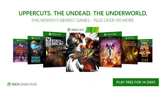 7 новых игр станут доступны бесплатно в Xbox Game Pass в октябре