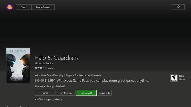 На Xbox One появилась возможность дарить игры и DLC