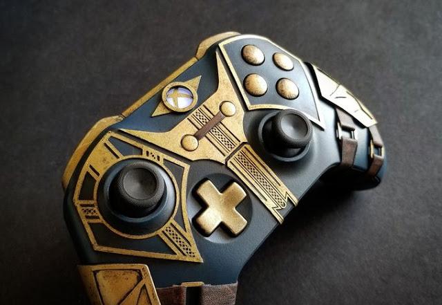 Дизайнер создал уникальный геймпад для Xbox One в стиле Бретонских Рыцарей