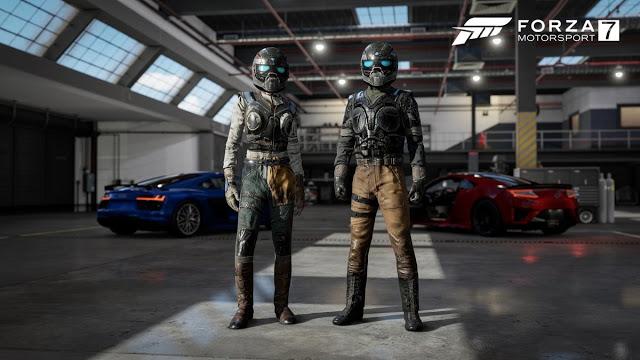 Эксклюзивные игровые костюмы из Gears of War 4 получат игроки в Forza Motorsport 7