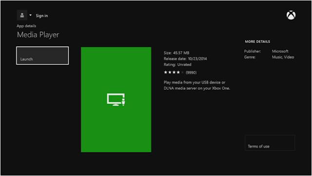 Приложение Media Player для Xbox One: поддерживаемые форматы, функциональность