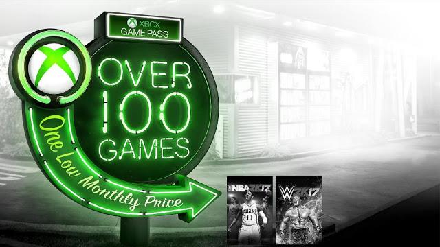 NBA 2K17 и WWE 2K17 будут добавлены в Xbox Game Pass в феврале